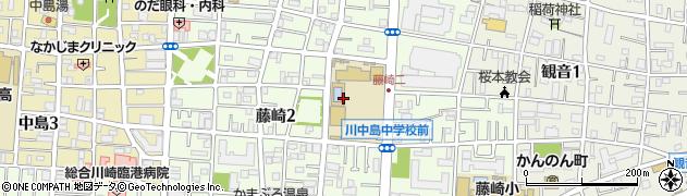 神奈川県川崎市川崎区藤崎周辺の地図