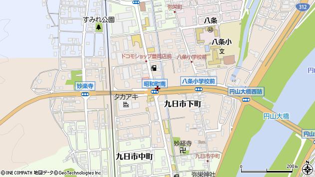 〒668-0052 兵庫県豊岡市九日市下町の地図