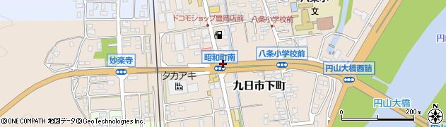 兵庫県豊岡市九日市下町周辺の地図