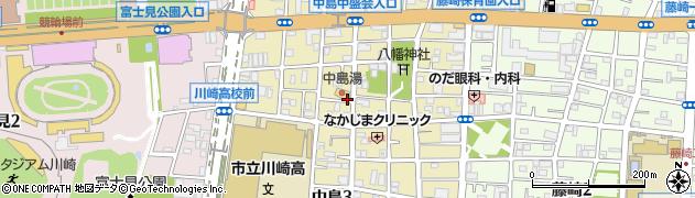 神奈川県川崎市川崎区中島周辺の地図