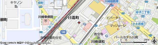 神奈川県川崎市川崎区日進町周辺の地図
