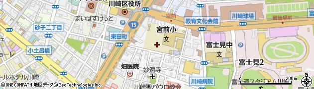 神奈川県川崎市川崎区宮前町周辺の地図