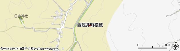 滋賀県長浜市西浅井町横波周辺の地図