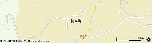 島根県松江市枕木町周辺の地図