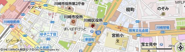 神奈川県川崎市川崎区周辺の地図