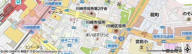 川崎市周辺の地図