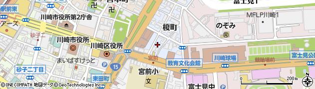 神奈川県川崎市川崎区榎町周辺の地図