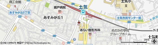 千葉銀行とけ支店周辺の地図
