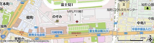 神奈川県川崎市川崎区富士見周辺の地図