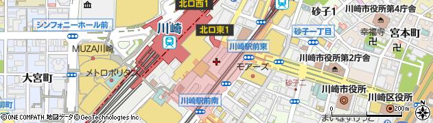 神奈川県川崎市川崎区駅前本町周辺の地図