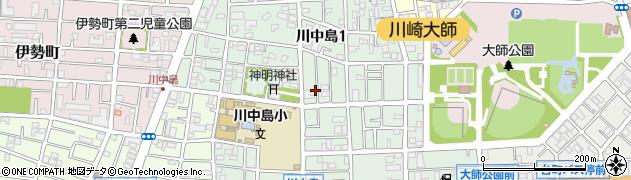 神奈川県川崎市川崎区川中島周辺の地図