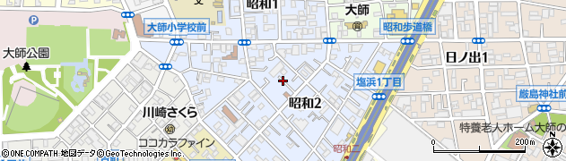 神奈川県川崎市川崎区昭和周辺の地図