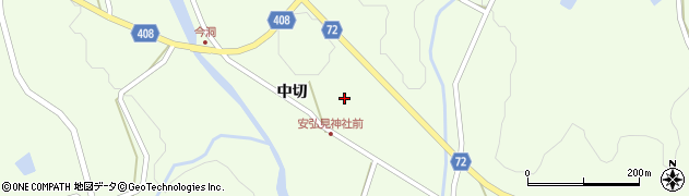 岐阜県中津川市蛭川(中切)周辺の地図