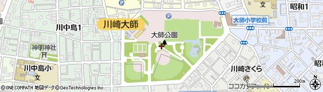 神奈川県川崎市川崎区大師公園周辺の地図