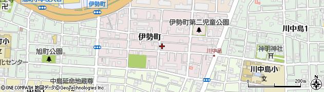 神奈川県川崎市川崎区伊勢町周辺の地図