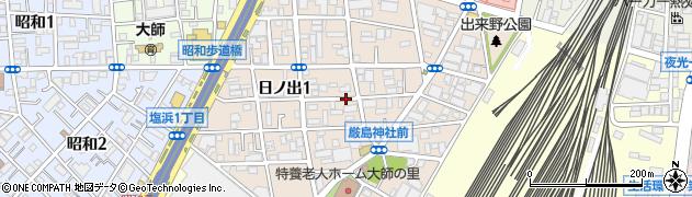 神奈川県川崎市川崎区日ノ出周辺の地図