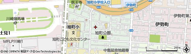 神奈川県川崎市川崎区旭町周辺の地図