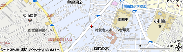 東京都町田市金森東周辺の地図