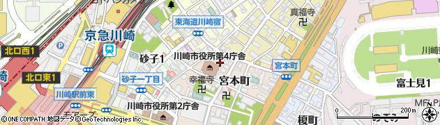 神奈川県川崎市川崎区宮本町周辺の地図