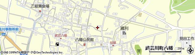 岐阜県関市武芸川町八幡周辺の地図