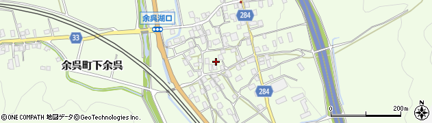 滋賀県長浜市余呉町下余呉周辺の地図