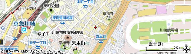 神奈川県川崎市川崎区堀之内町周辺の地図