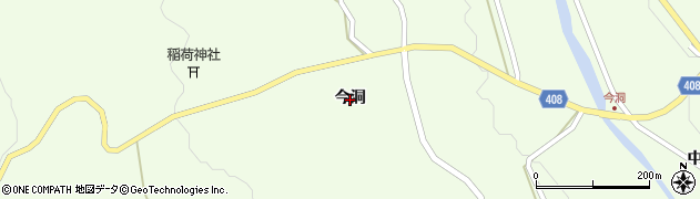 岐阜県中津川市蛭川(今洞)周辺の地図