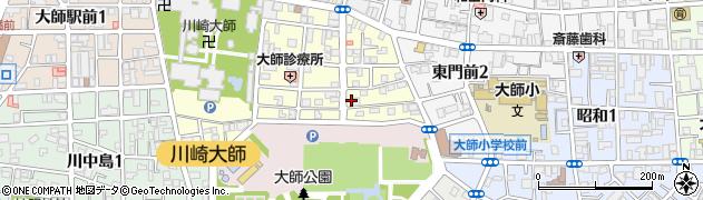 神奈川県川崎市川崎区大師町周辺の地図