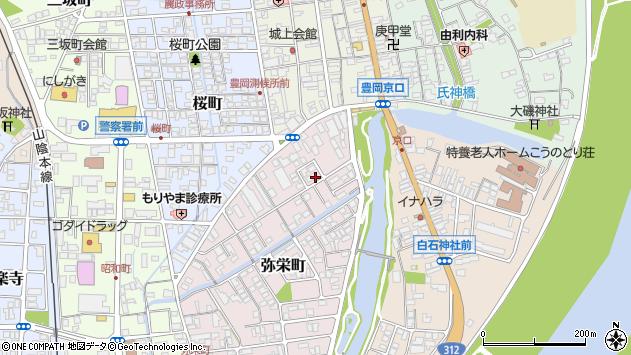 〒668-0057 兵庫県豊岡市弥栄町の地図