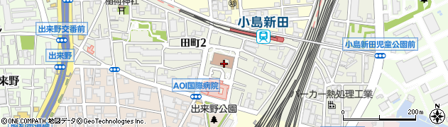 神奈川県川崎市川崎区田町周辺の地図