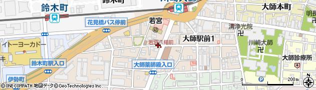 神奈川県川崎市川崎区大師駅前周辺の地図
