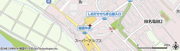 神奈川県相模原市中央区田名塩田周辺の地図
