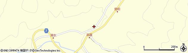 岐阜県中津川市馬籠(峠)周辺の地図