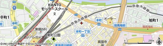 神奈川県川崎市川崎区本町周辺の地図