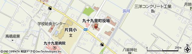 千葉県山武郡九十九里町周辺の地図