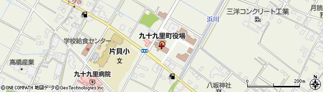 千葉県九十九里町(山武郡)周辺の地図