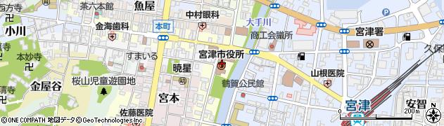 京都府宮津市周辺の地図