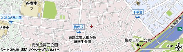 神奈川県横浜市青葉区梅が丘周辺の地図