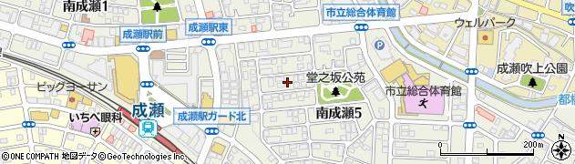 東京都町田市南成瀬周辺の地図