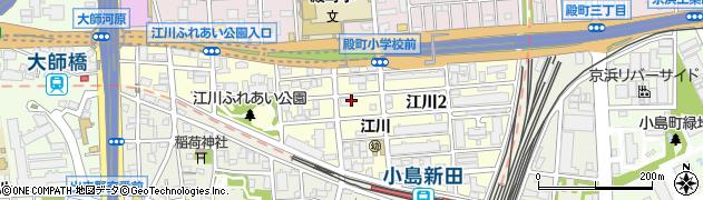 神奈川県川崎市川崎区江川周辺の地図