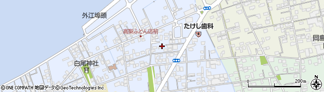鳥取県境港市外江町周辺の地図