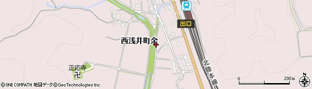 滋賀県長浜市西浅井町余周辺の地図