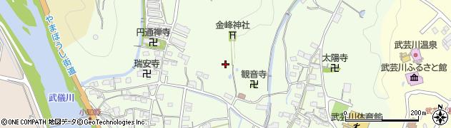 岐阜県関市武芸川町小知野周辺の地図