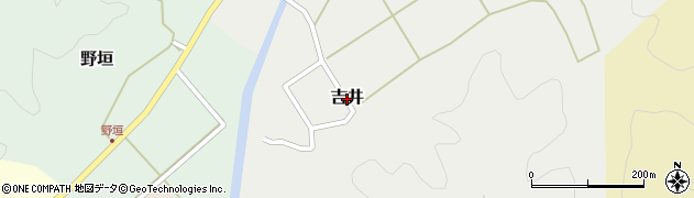 兵庫県豊岡市吉井周辺の地図