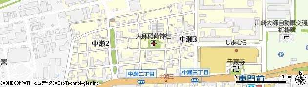 大師稲荷神社周辺の地図
