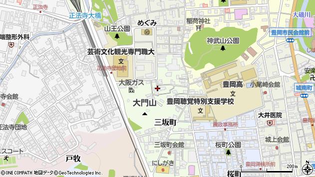 〒668-0047 兵庫県豊岡市三坂町の地図