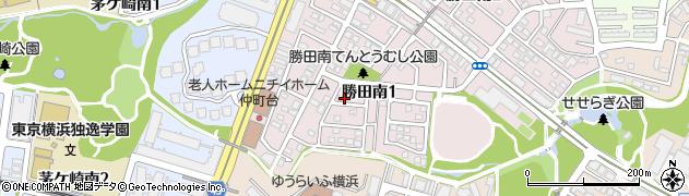 神奈川県横浜市都筑区勝田南1丁目周辺の地図