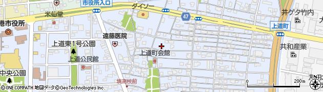 鳥取県境港市上道町周辺の地図