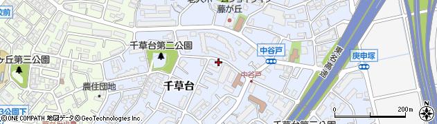 神奈川県横浜市青葉区千草台周辺の地図