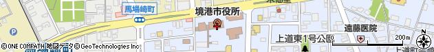 鳥取県境港市周辺の地図